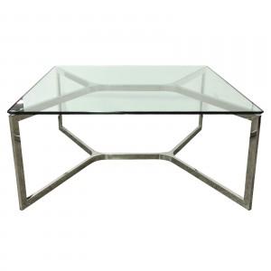 barcelona coffee table sq clr - le forge