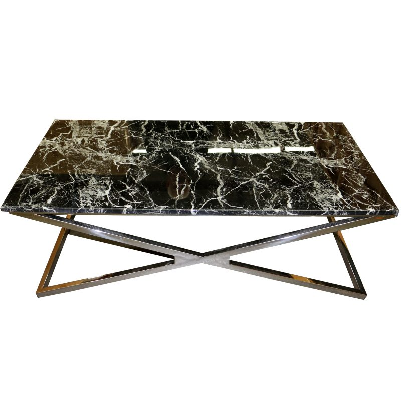 Madrid Coffee Table Rect Blk Le Forge