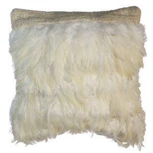 Feather Cushion Square White (no inner)
